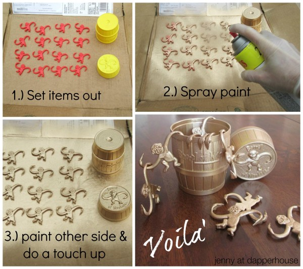 Easy as one, two, three to spray paint common items for a fun and solid gold Father's Day Gift @dapperhouse