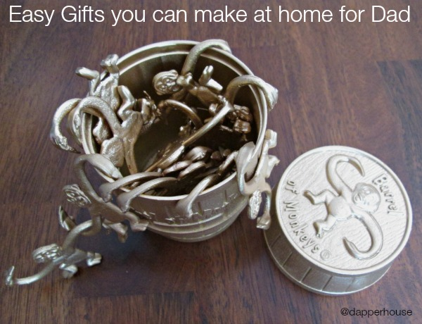 Easy gifts that you can make at home for dad and other men @dapperhouse #DIY