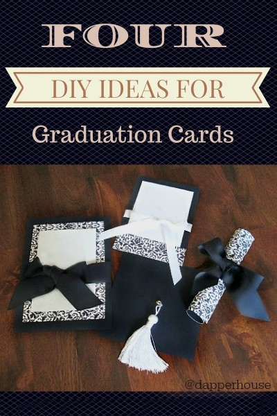 Four DIY Ideas for Graduation Cards Announcements @dapperhouse