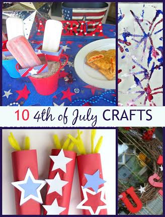 10 4th of July crafts Round up post for patriotic home and garden deor and fun with kids @dapperhouse