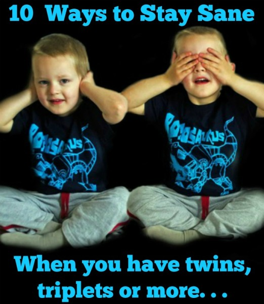 10 ways to stay sane when you have twins, triplets or more @dapperhouse