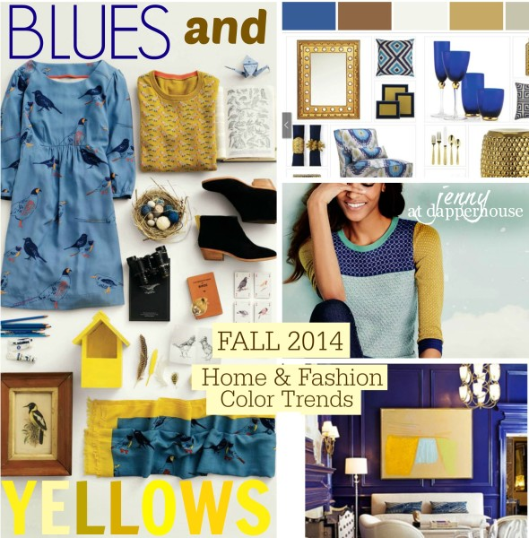 Blue and Yellow Trending for Fall 2014 in Fashion and Home Decor @dapperhouse