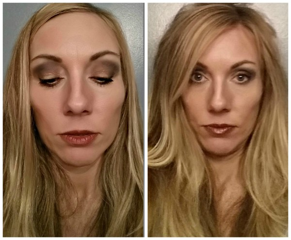 Change day to night with darker lips, darker liner and sweeps of gold shadow on lids and center of lips @dapperhouse makeup tips for women over 40