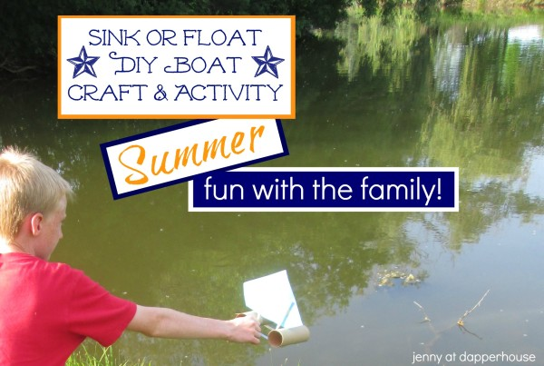 DIY Boat activity and craft to spend summer time fun with the family @dapperhouse