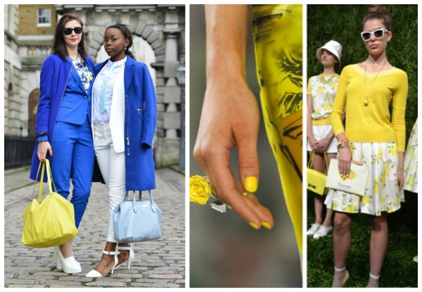FALL 2014 Fashion Trends for Home and Style Yellow Blue White for Fall