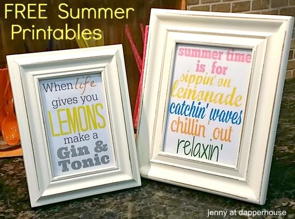 FREE & FUN Printables for Sumertime subway art home decor @dapperhouse
