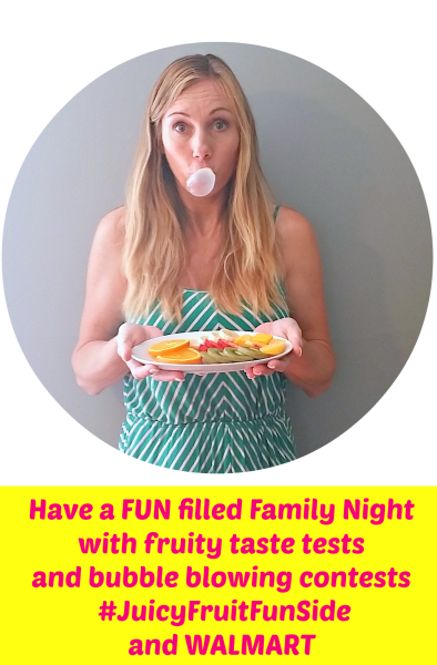 Have a fun filled Family Night with fruity taste tests and bubble blowing contests #JuicyFruitFunSide @WALMART #cbias #shop @dapperhouse