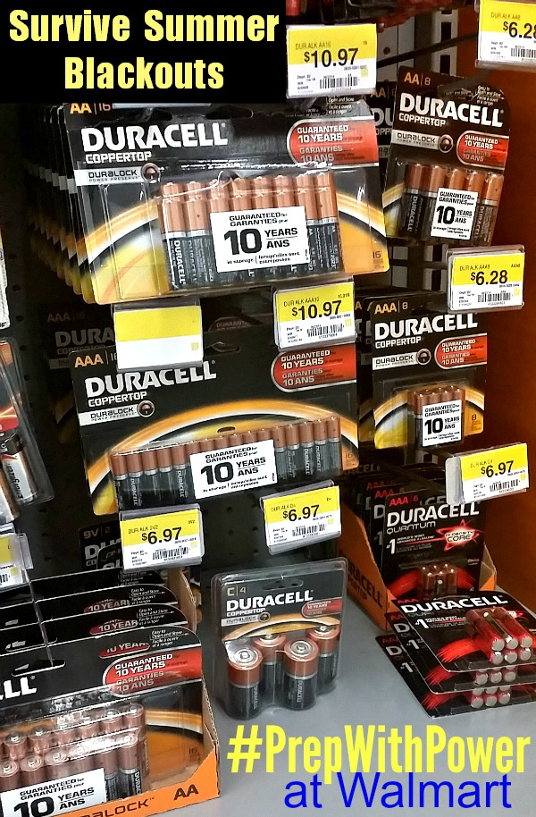 Survive Summer Blackouts Tips to Family Prepardenss for Power Outages #PrepWithPower walmart and duracell @ad #shop #cbias