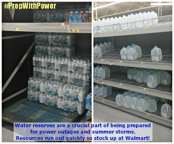 Water reserves can quickly ru out so stock up on clean water in all forms and containers @dapperhouse #PrepWithPower #ad #shop #cbias @walmart