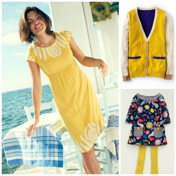 Yellow and Blue are the it colors trending for fall in home and family fashion @dapperhouse BODEN 2014