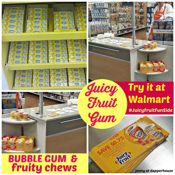 You are going to want to run to Walmart for Displays, Free samples, valuable coupons and the Best, Juiciest, Most Flavorful Gum around #JuicyFruitFunSide #cbias #shop @dapperhouse