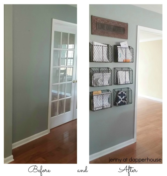 Before and After pics for family home organization and decor jenny at dapperhouse