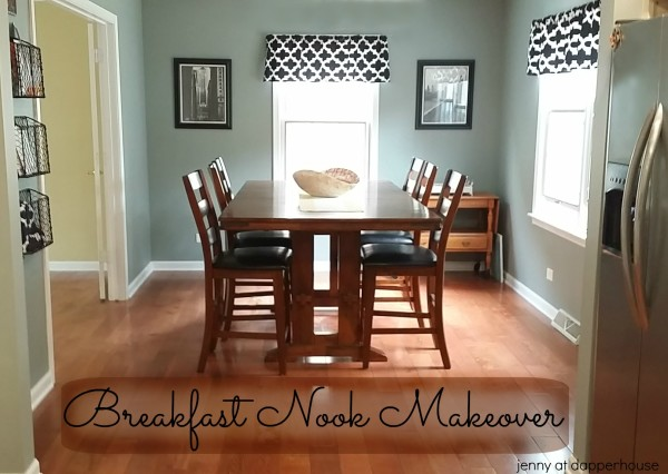 Breakfast Nook Makeover Before and After from jenny at dapperhouse