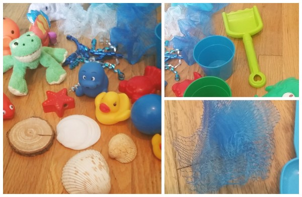 Create and Use an Ocean Sensory bin for babies too jenny at dapperhouse
