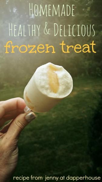 HEalthy & Delicious frozen treat made from avocado and banana and yogurt and more #recipe jenny at dapperhouse
