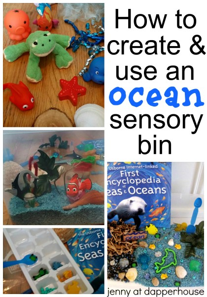 HOw to Create and Use an Ocean Sensory Bin jenny at dapperhouse early childhood education
