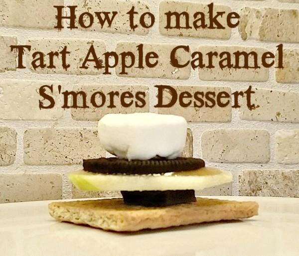How to make a Tart Apple Caramel S'mores Dessert Recipe @dapperhouse