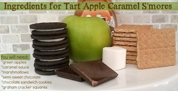 Ingredients for Tart Apple and Caramel S'mores Dessert @dapperhouse