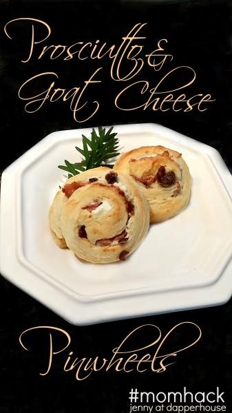Prosciutto & Goat Cheese Pinwheels #momhack #recipe jenny at dapperhouse