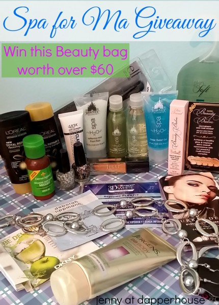 Spa for Ma Giveaway Hop jenny at dapperhouse $60 Beauty Bag #giveaway #beauty