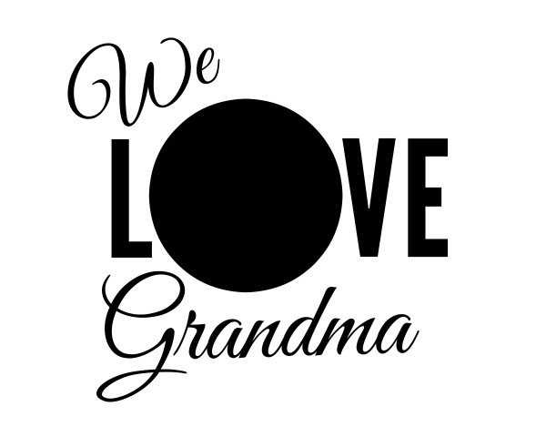 WE LOVE GRANDMA free printables from Jenny at dapperhouse picture frame gift