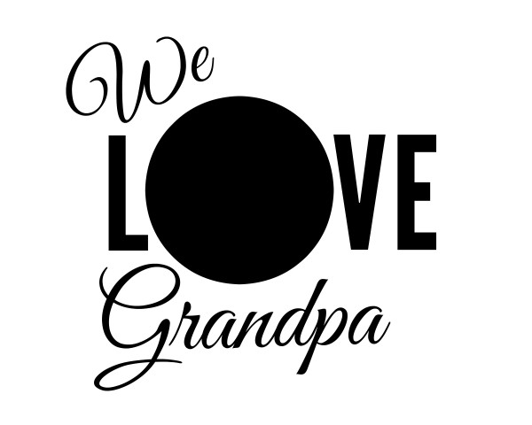 WE LOVE GRANDPA free printables picture frame and gift from Jenny at dapperhouse