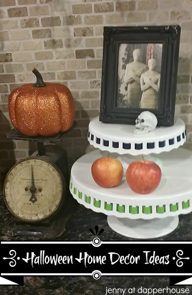 Happy Halloween Home decorating Ideas for Fall jenny @dapperhouse