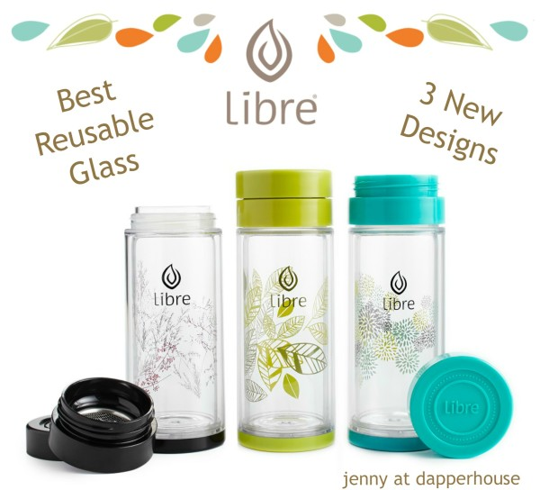 Libre Tea Reusable Glasses New Designs for Hot and Cold Beverages @dapperhouse