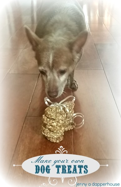 Make your own Dog Treats for the Holiday for Cute Gifts for Neighbor Dogs  jenny at dapperhouse