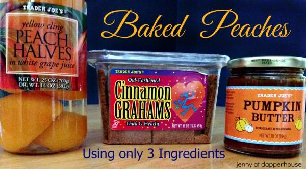3 Ingredients to make an Award Winning Baked Peaches #recipe