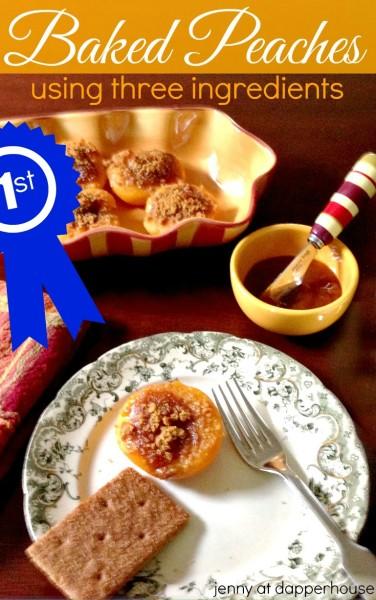 Easy 3 Ingredient Baked Peaches Award Winning #recipe