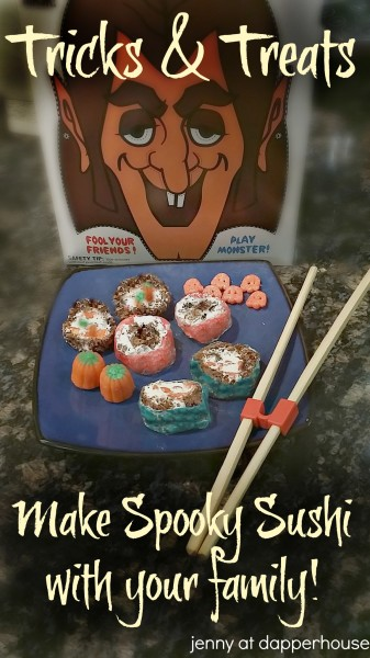 Have FUN with your family by making spooky sushi with #retromonstercereal  #PlatefullCoOp #paid breakfast cereal and snack treats jenny @dapperhouse
