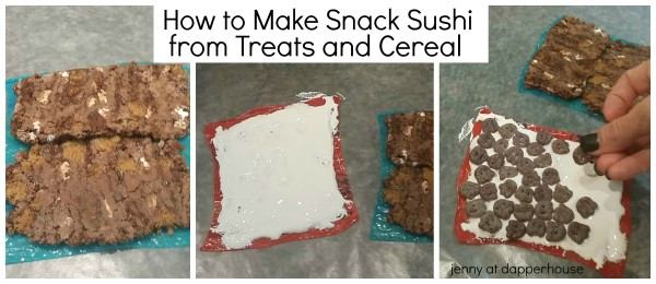 How to make snack sushi from breakfast cereal and treats @dapperhouse #retromonstercereal  #PlatefullCoOp #paid