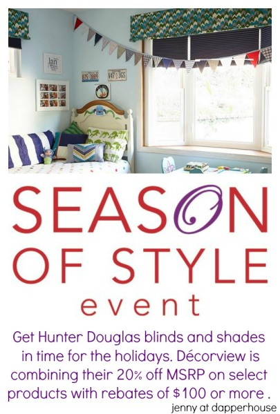 Wow. Get some great Hunter Douglas blinds and shades before the holidays. Décorview is combining their 20 off MSRP on select products with a Hunter Douglas rebate of $100 or more . See the offer at #Ad httpgoo.glQRe6l4