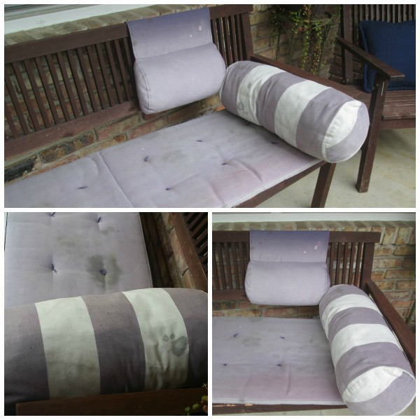 how to refresh your outdoor cushions with leftover paint