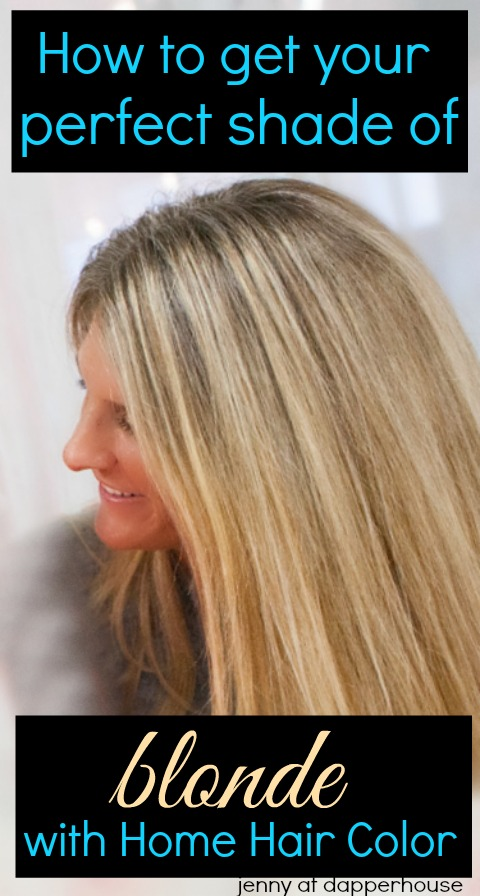 How to get your perfect shade of blonde with at home hair color jenny at dapperhouse beauty and style