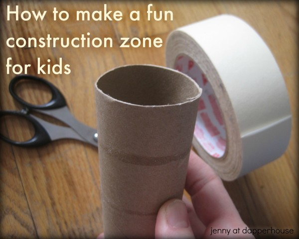 How to make a fun construction zone play set for kids @dapperhouse