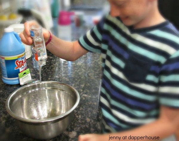 How to make holiday science slime with the kids @dapperhouse
