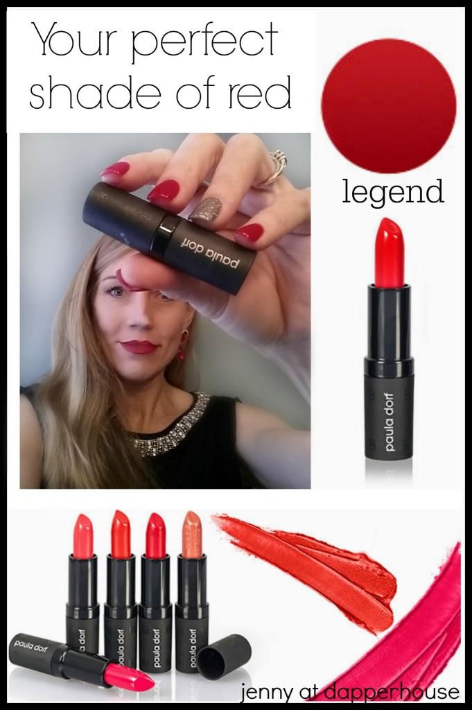 Your perfect shade of red - lipstick Paula Dorf #sponsored #beauty #fashion @dapperhouse @BrandBacker @PDcosmetics