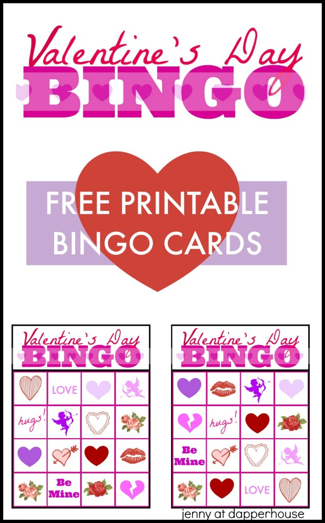 graphic about Valentines Bingo Cards Free Printable named No cost Printable Valentines Working day BINGO Playing cards Sport