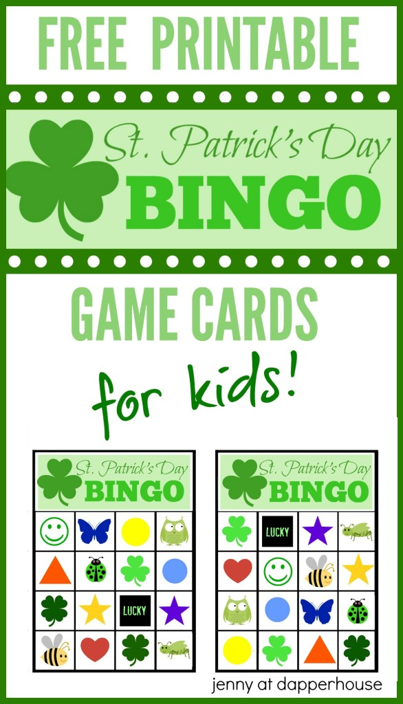 Free Kids Game For St Patrick S Day Printable Bingo Cards