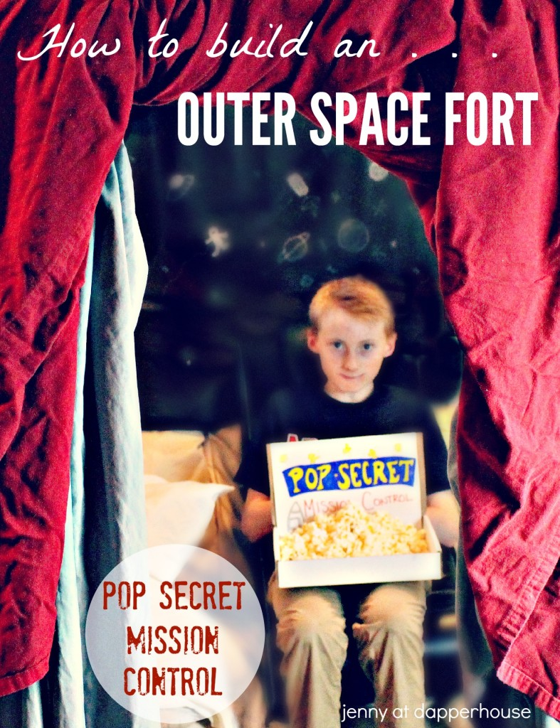 How to build an outer space themed fort with #PopSecretForts Mission Control @dapperhouse