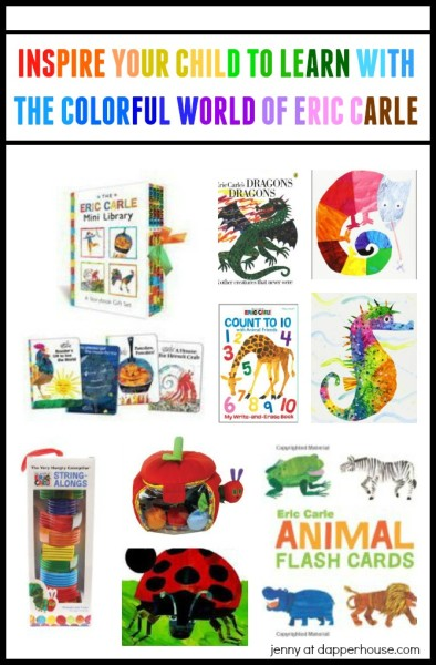 Inspire Your Child To LEarn with the Colorful World of Eric Carle with jenny at dapperhouse