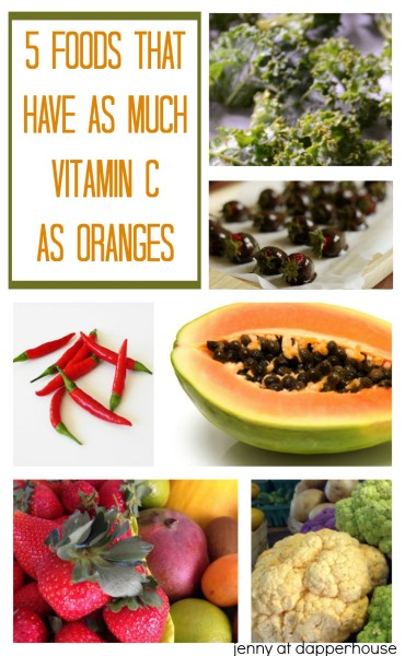 5 Foods that Have as Much Vitamin C as Oranges - jenny at dapperhouse #health #nutrition