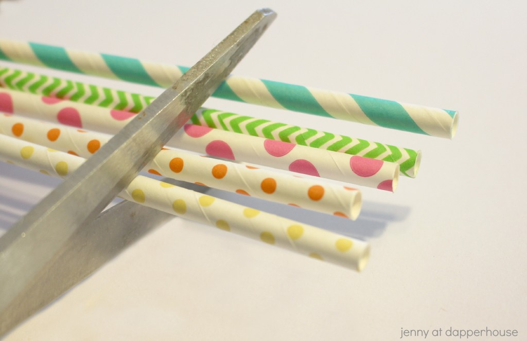 Colorful Paper Straw Necklace Craft to Celebrate Spring from Jenny at dapperhouse