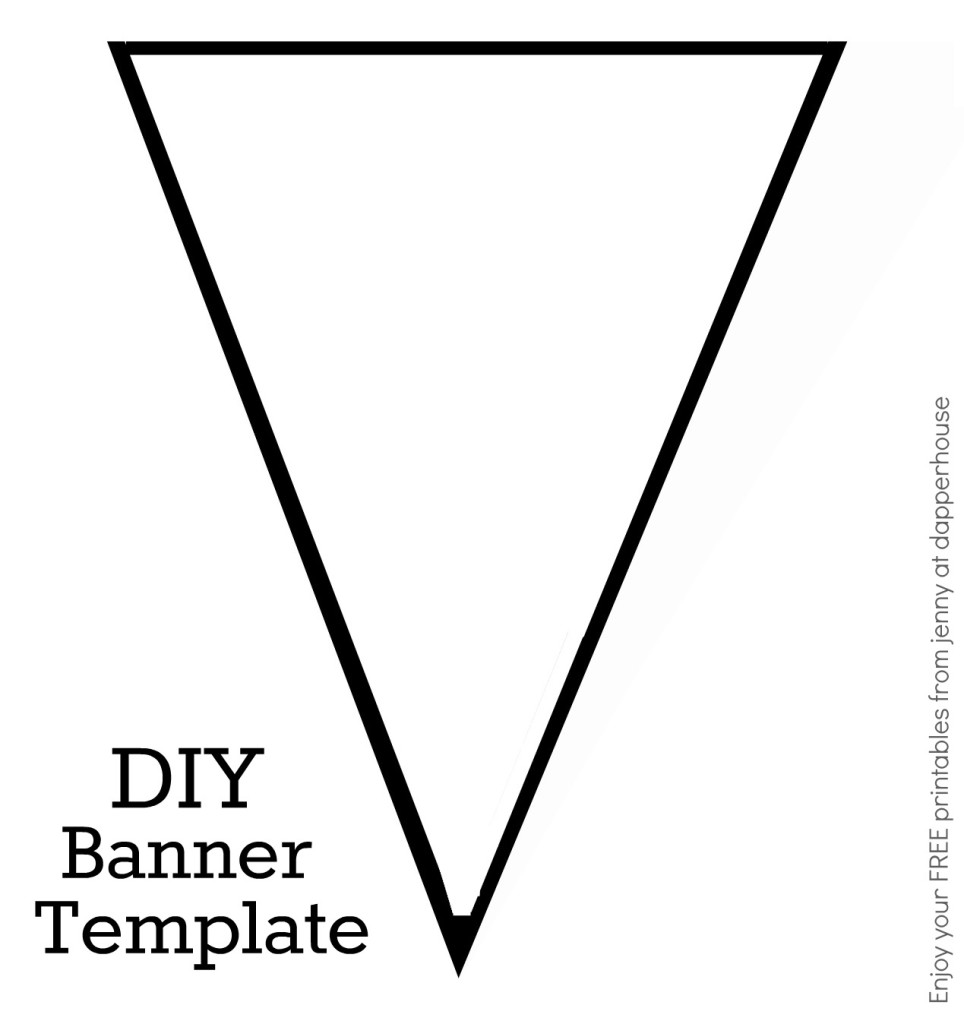 penant template - how to make your own banners with free printables