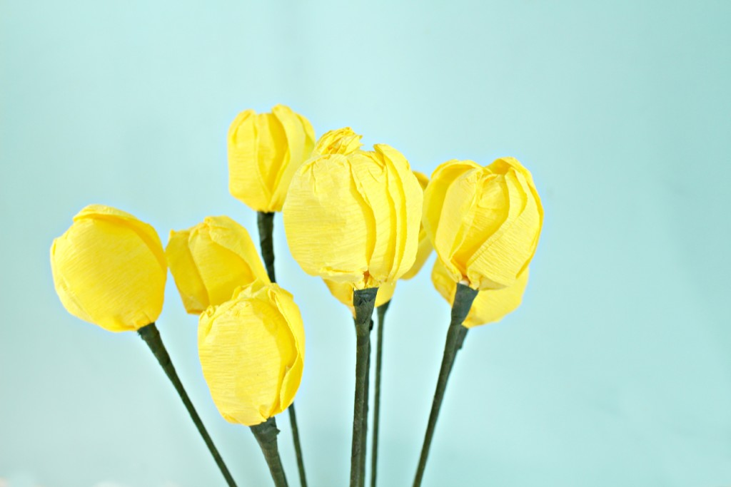 DIY Crepe Paper Tulips for Mother's Day - jenny at dapperhouse