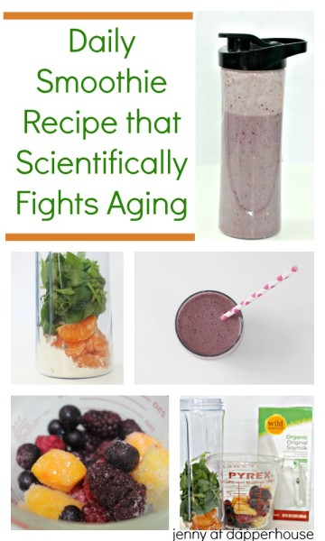 Daily Smoothie Recipe that Scientifically Fights Aging - from jenny at dapperhouse