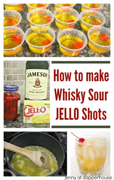 How to make Whisky Sour JELLO shots #recipe for parties! jenny at dapperhouse