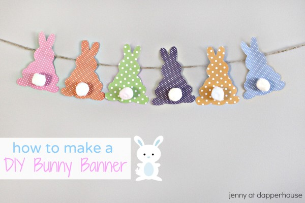 How to make a DIY Bunny Banner - jenny at dapperhouse #Craft